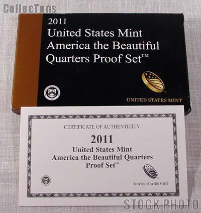 2011 U.S. Mint QUARTER Proof Set OGP Replacement Box and COA