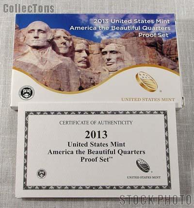 2013 U.S. Mint QUARTER Proof Set OGP Replacement Box and COA
