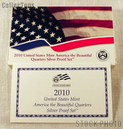 2010 SILVER QUARTER PROOF SET OGP Replacement Box and COA