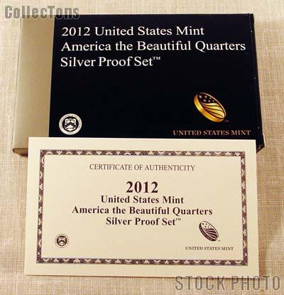 2012 SILVER QUARTER PROOF SET OGP Replacement Box and COA