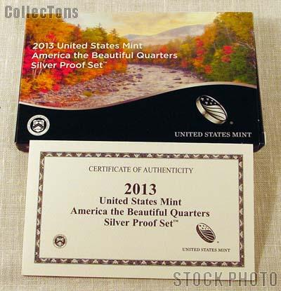 2013 SILVER QUARTER PROOF SET OGP Replacement Box and COA