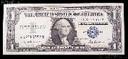 One Dollar Bill Silver Certificate STAR NOTE Series 1957 US Currency