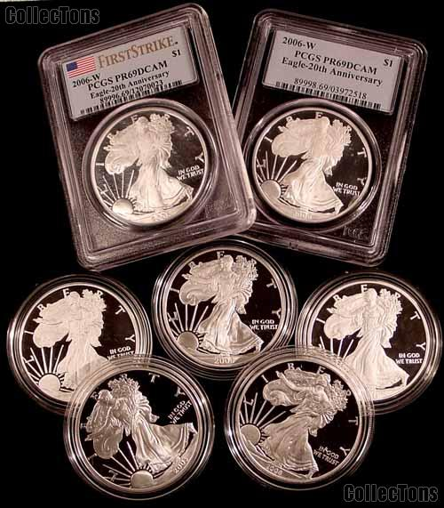 PROOF Silver Eagle in Slab or Capsule