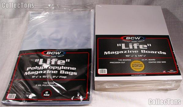 Life Magazine Bag and Board set by BCW 100 pack