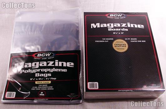 Magazine Bag and Board set by BCW 100 pack