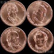 2009-P Presidential Dollar Set BU Full Year Set of 4 Coins from Philadelphia Mint