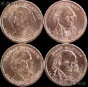 2007-D Presidential Dollar Set BU Full Year Set of 4 Coins from Denver Mint