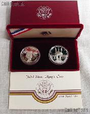 1983-1984 Los Angeles Olympics 2-Coin Commemorative PROOF Silver Dollar Set