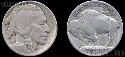 1913 Buffalo Nickel Type 1 FIVE CENTS on Raised Ground One Coin G+ Condition