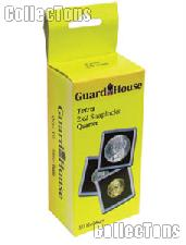 2x2 Coin Holders Box of 10 Guardhouse Tetra Snaplocks for QUARTERS