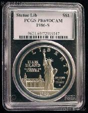 1986-S Statue of Liberty Commemorative Proof Silver Dollar in PCGS PR 69 DCAM