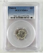 1940-D Mercury Silver Dime in PCGS MS 66+