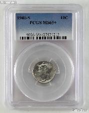 1940-S Mercury Silver Dime in PCGS MS 65+
