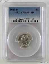1940-D Mercury Silver Dime in PCGS MS 66+ FB (Full Bands)