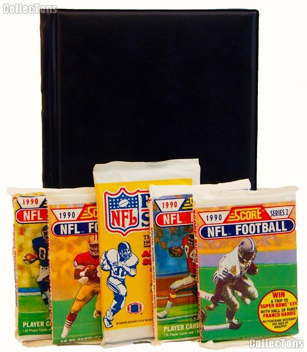 Football Card Collecting Starter Set / Kit NFL with 6 Football Card Packs & Album