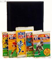 Football Card Collecting Starter Set / Kit NFL with 3 Football Card Packs & Album