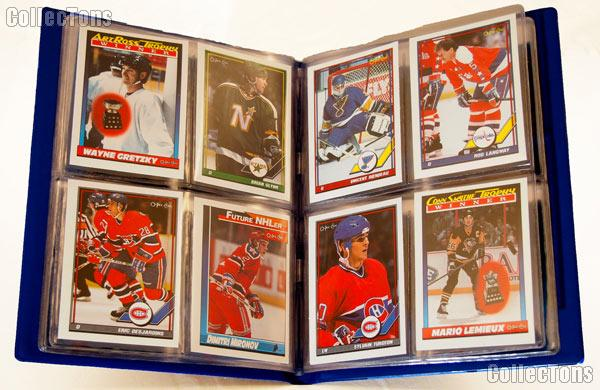 Hockey Card Collecting Starter Set / Kit NHL with 6 Hockey Card Packs & Album