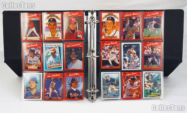 Sports Card Collecting Starter Set / Kit MLB, NFL, NBA, NHL with 12 Sports Card Packs, Display Binder, & Pages