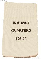 Official US Mint $25 QUARTERS Canvas Money / Coin Bag