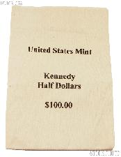 Official US Mint $100 Kennedy HALF DOLLARS Canvas Money / Coin Bag