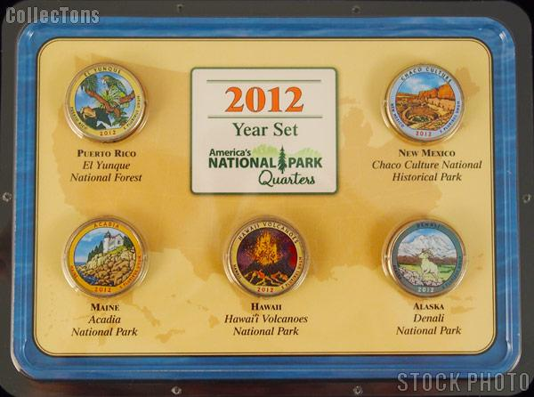 D 2012 ACADIA COLORIZED AMERICA/'S BEAUTIFUL NATIONAL PARKS QUARTER