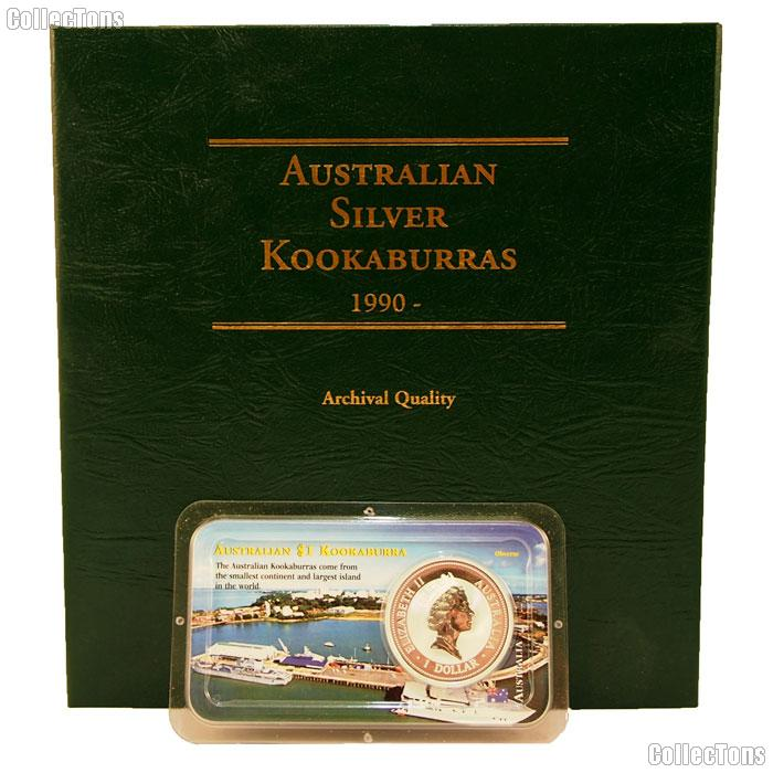 Australian Silver 1 oz Kookaburras Starter Set Album and Coin by Littleton