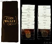 World Coin Starter Set with 18 Coins from 18 Different Countries in Coin Wallet