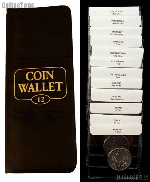 World Coin Starter Set with 12 Coins from 12 Different Countries (Set #2 H - Z) in Coin Wallet