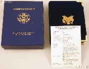 1989 American Eagle 1/10th oz Proof $5 Gold Bullion Coin OGP Replacement Box and COA