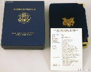 1990 American Eagle 1/10th oz Proof $5 Gold Bullion Coin OGP Replacement Box and COA
