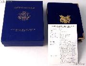 1998 American Eagle 1/4 oz Proof $10 Gold Bullion Coin OGP Replacement Box and COA