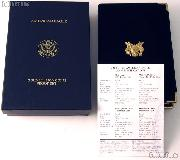 2002 American Eagle Gold Bullion 4-Coin Proof Set OGP Replacement Box and COA