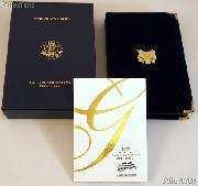 2007 American Eagle Gold Bullion 4-Coin Proof Set OGP Replacement Box and COA