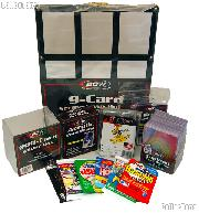 Sports Card Collecting Starter Set / Kit MLB, NFL, NBA, NHL with 18 Different Card Packs, Frames, Toploaders, & Holders