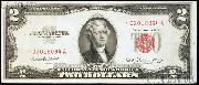 Two Dollar Bill Red Seal STAR NOTE Series 1953 US Currency Good or Better