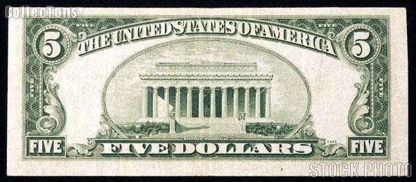 Five Dollar Bill Silver Certificate STAR NOTE Series 1953 US ...