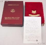 1995-W American Eagle 10th Anniversary Set Proof Bullion Coins OGP Replacement Box and COA