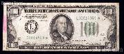 One Hundred Dollar Bill Green Seal FRN STAR NOTE Series 1934 US Currency
