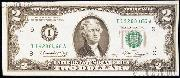 Two Dollar Bill Green Seal FRN Series 1976 US Currency CU Crisp Uncirculated