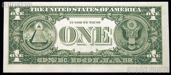 One Dollar Bill Federal Reserve Note FRN Series 1963 US Currency CU Crisp Uncirculated