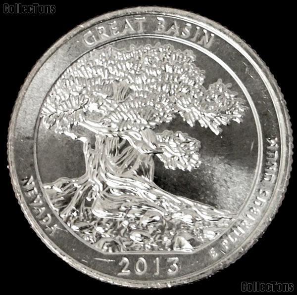 2013-S Nevada Great Basin National Park Quarter GEM BU America the Beautiful