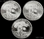 2013 P, D, & S Nevada Great Basin National Park Quarters GEM BU America the Beautiful