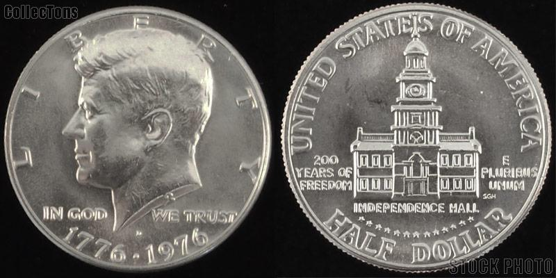 1976 Kennedy BICENTENNIAL Clad Half Dollar One Coin Brilliant Uncirculated Condition