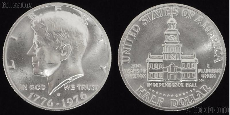 1976 Kennedy BICENTENNIAL Silver Clad Half Dollar Brilliant Uncirculated Condition