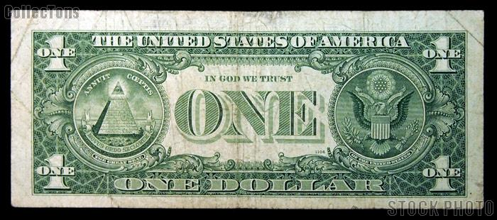 One Dollar Bill Federal Reserve Note Series 1963B BARR NOTE US Currency Good or Better