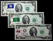 "Two Dollar Bill Green Seal FRN ""First Day Cover"" April 13, 1976 Series 1976 US Currency Good or Better"