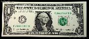One Dollar Bill Federal Reserve Note FRN Series 2009 US Currency CU Crisp Uncirculated