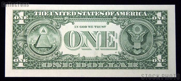 "One Dollar Bill Federal Reserve Note FRN ""RADAR"" US Currency CU Crisp Uncirculated"