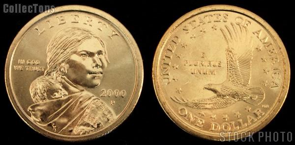 Sacagawea Dollar (2000-2008) 3 Different Coin Lot Brilliant Uncirculated Condition