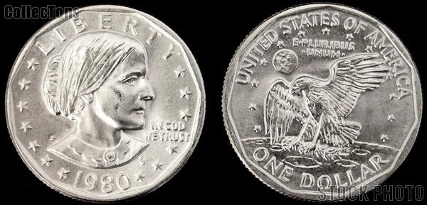 Susan B Anthony Dollars SBA (1979-1999) 3 Different Coin Lot Brilliant Uncirculated Condition